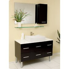 Stella 43 Single Distante Modern Bathroom Vanity Set with Mirror by Fresca