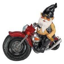 Axle Grease, the Biker Gnome Figurine