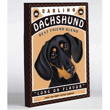 Doggy Decor Darling Dachshund Graphic Art on Wrapped Canvas