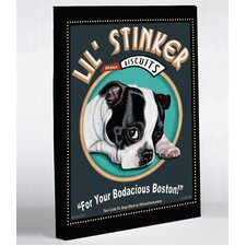 Doggy Decor Lil Stinker Graphic Art on Wrapped Canvas