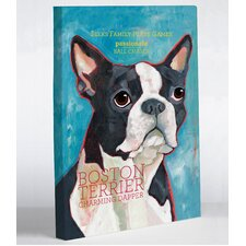 Doggy Decor Boston Terrier 1 Painting Print on Wrapped Canvas