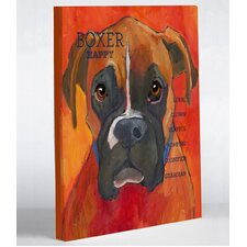 Doggy Decor Boxer 2 Painting Print on Wrapped Canvas