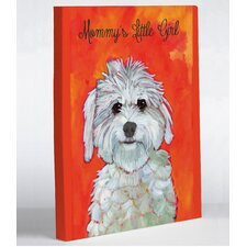 Doggy Decor Mommy's Little Girl Painting Print on Wrapped Canvas