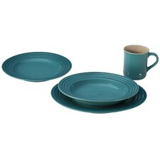 Stoneware 4 Piece Place Setting, Service for 1