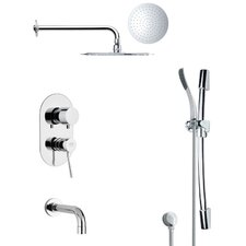 Galiano Pressure Balance Tub and Shower Faucet by Remer by Nameek's