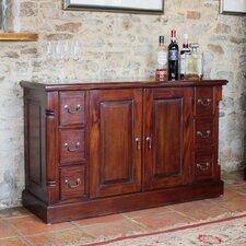 La Roque Mahogany 2 Door 6 Drawer Sideboard