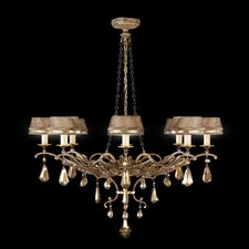 Golden Aura 8-Light Shaded Chandelier