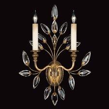 Crystal Laurel Gold 2-Light Wall Sconce