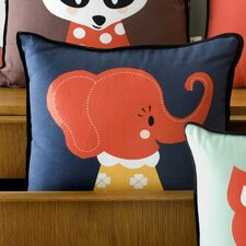 Elle Elephant Cotton Throw Pillow