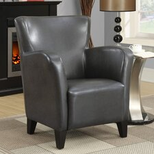 Leather-Look Club Chair by Monarch Specialties Inc.