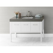 Calabria 48 Bathroom Vanity Base Cabinet in White by Ronbow