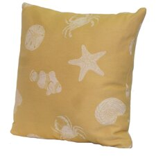 Key West Shells Stuffed Throw Pillow