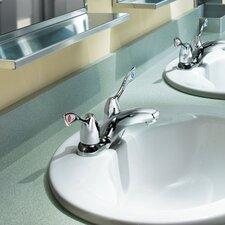 M-Bition Two Wrist Blade Handle Centerset Bathroom Faucet