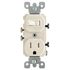 Toggle Switch and Receptacle Combination