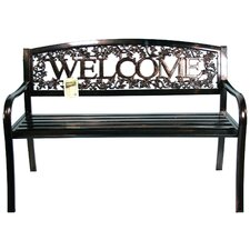Metal Welcome Entryway Bench by Leigh Country