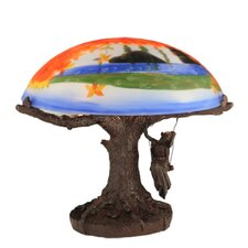 """Maxfield Parrish 13"""" Table Lamp"""