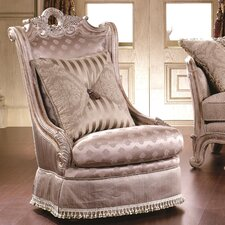 Alaskan Nailhead Wingback Chair by Astoria Grand