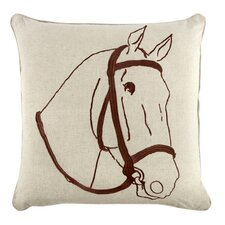 "Thoroughbred 18"" Linen Throw Pillow"