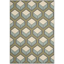 Hampton Dark Ivory Geometric Outdoor Area Rug