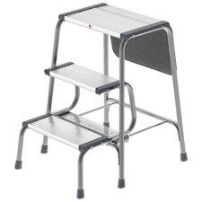 3-Step Aluminum Folding Step Stool with 330 lb. Load Capacity