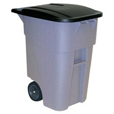 Brute Rollout Container 50 Gallon Multi Compartments Recycling Bin