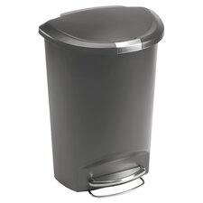 quick view plastic 13 gallon step on trash can - Decorative Trash Cans