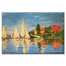 Regatta at Argenteuil by Claude Monet Painting Print on Wrapped Canvas