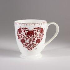 Romany 13.5cm Bone China Heart Mug