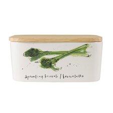 Vegetali 15cm Porcelain Broccoli Butter Dish