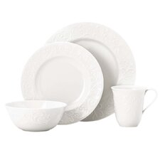 Opal Innocence Carved 4 Piece Place Setting, Service for 1