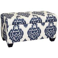Diamon Upholstered Cotton Storage Ottoman by Skyline Furniture