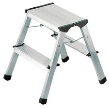 2-Step Aluminum Step Stool with 330 lb. Load Capacity