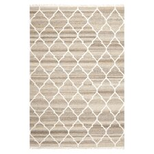 Natural Kilim Dhurrie Light Grey & Ivory Area Rug