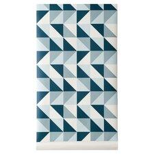 """Remix 32.97' x 20.87"""" Geometric Wallpaper Roll"""