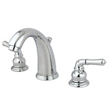 Magellan Double Handle Widespread Bathroom Faucet with ABS Pop-Up Drain by Kingston Brass