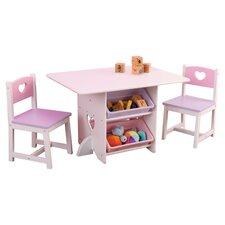Heart Kids 7 Piece Table & Chair Set