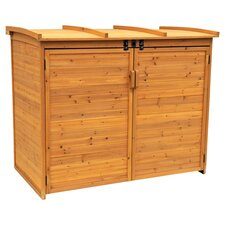 Horizontal Refuge 5.5 ft. W x 3.17 ft. D Wood Garbage Shed