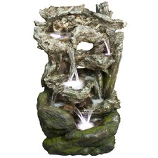 Fiberglass/Polystone Rainforest Waterfall Fountain with LED Light