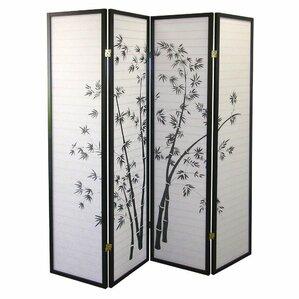 Kingman 70 X 68 Bamboo Shoji 4 Panel Room Divider