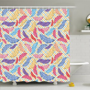 Different Vane Figures on Square Shape Striped Backdrop Print Shower Curtain Set East Urban Home