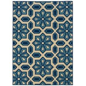 Eldridge Ivory/Blue Indoor/Outdoor Area Rug