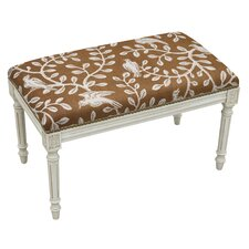 Birds and Vines Upholstered Entryway Bench by 123 Creations