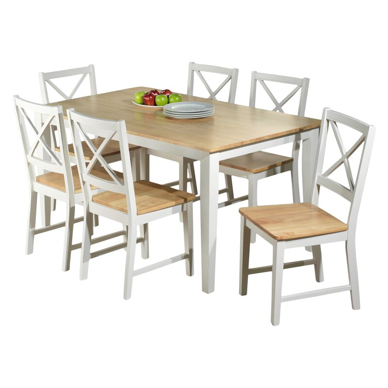 beachcrest home lafayette 7 piece dining set & reviews | wayfair