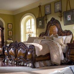Michael Amini Chateau Beauvais Panel Customizable Bedroom Set