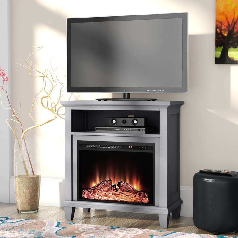 Electric Fireplace tv console with electric fireplace : Andover Mills Rosendale 32