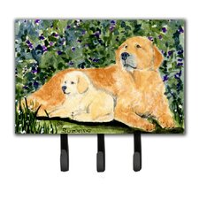 Golden Retriever Leash Holder and Key Holder by Caroline's Treasures