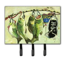 Recession Food Fish Caught with Spam Key Holder by Caroline's Treasures
