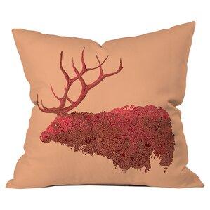 Martin Bunyi Elk Outdoor Throw Pillow
