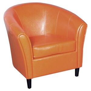 Karp Barrel Bonded Leather Barrel Chair by Brayden Studio
