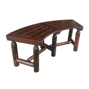 Char Log Curved Picnic Bench
